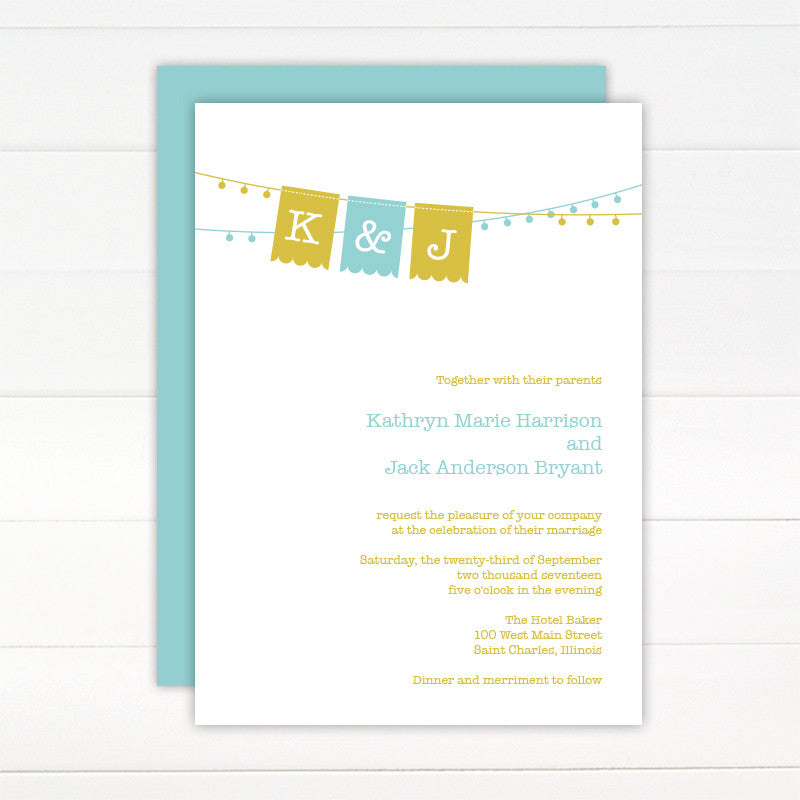 Jubilee Wedding Invitation