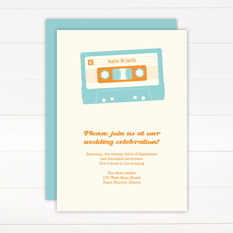 Mix Tape Wedding Invitation