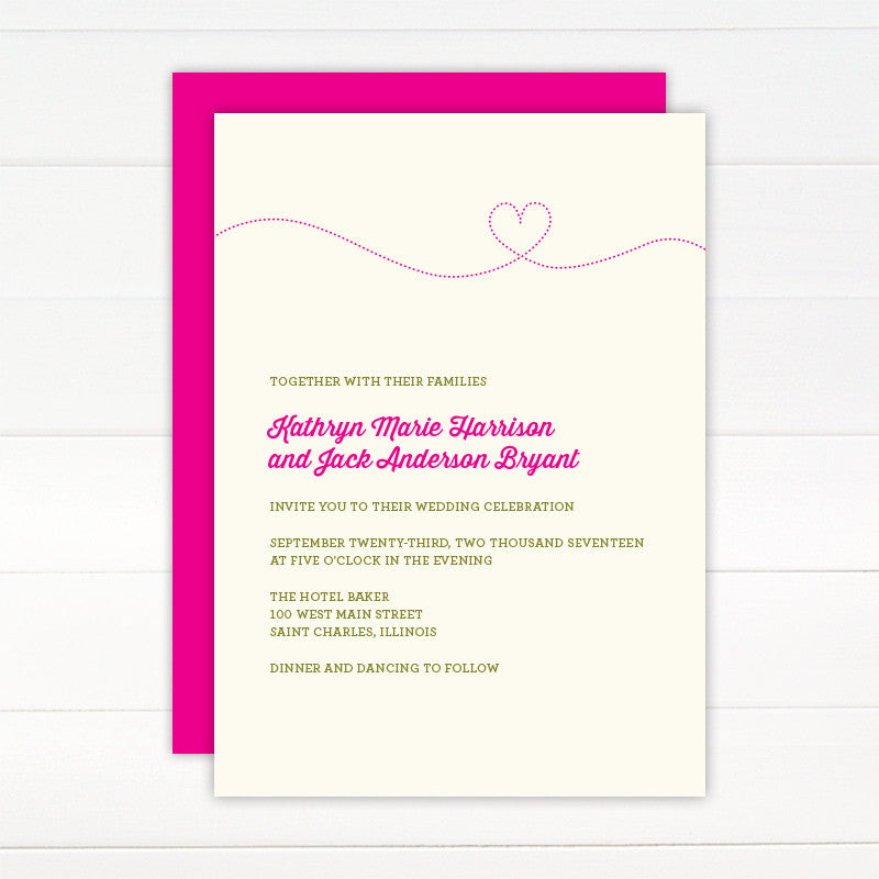 Smitten Wedding Invitation