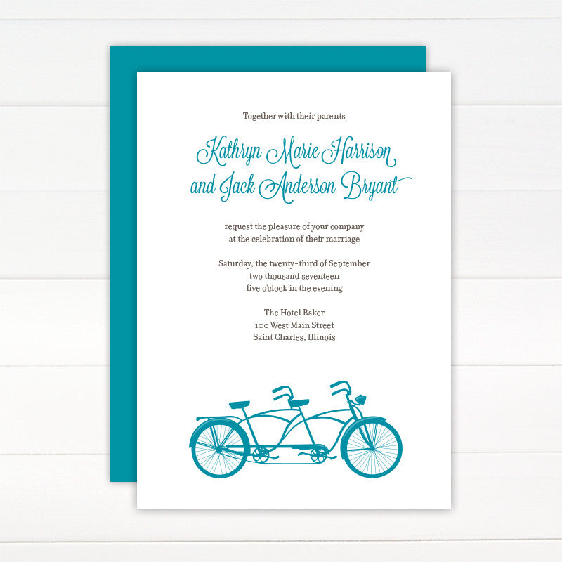 Tandem Wedding Invitation