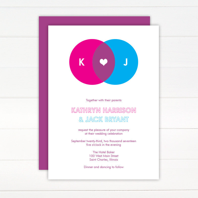 Venn Wedding Invitation