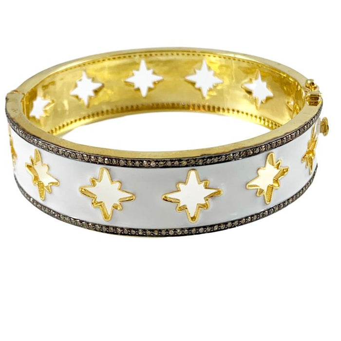 Diamond Cutout Starburst Bangle