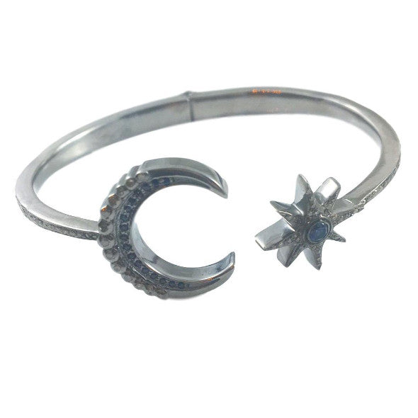 Moon & Star Open Bangle