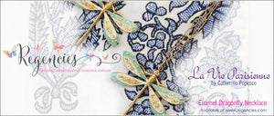 La Vie Parisienne by Catherine Popesco Dragonfly Enamel Necklace