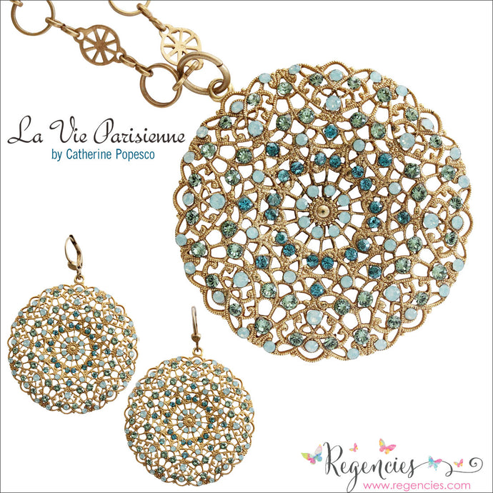 Featured Product: Catherine Popesco Filigree Large Lace Medallion Earrings