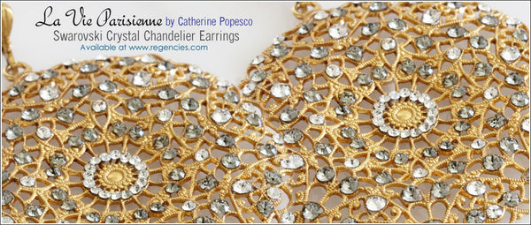 La Vie Parisienne Catherine Popesco Chandelier Earrings