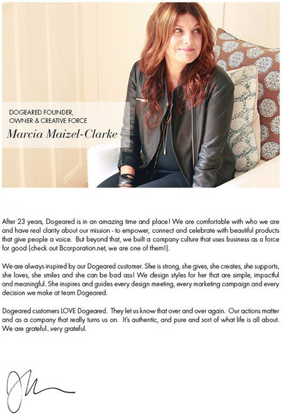 Dogeared designer and founder Marcia Maizel-Clarke