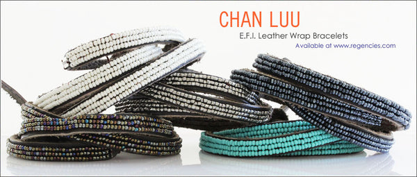 Chan Luu EFI Seed Beaded Triple Wrap Leather Bracelets