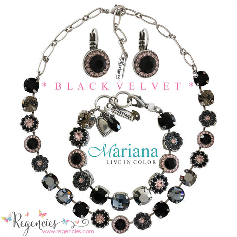 Mariana Jet Black Gray Swarovski Crystal Jewelry