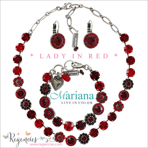 Mariana Jewelry Lady in Red Earrings Bracelets Necklaces