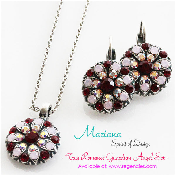 Mariana Guardian Angel Necklace Earrings Set