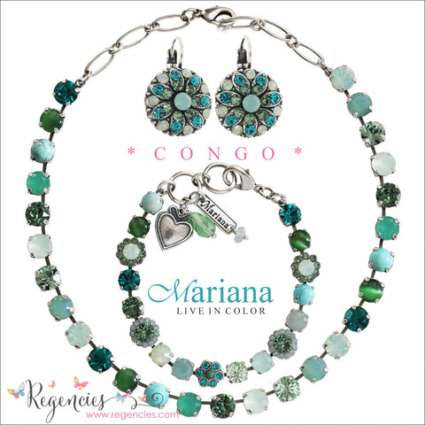 Mariana Turquoise Pacific Blue Green Swarovski Crystal Jewelry