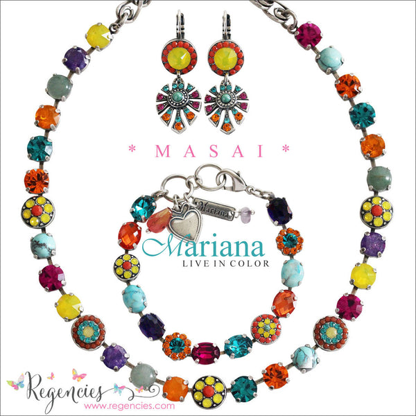 Mariana Jewelry Africa Masai Necklace Bracelet Earrings