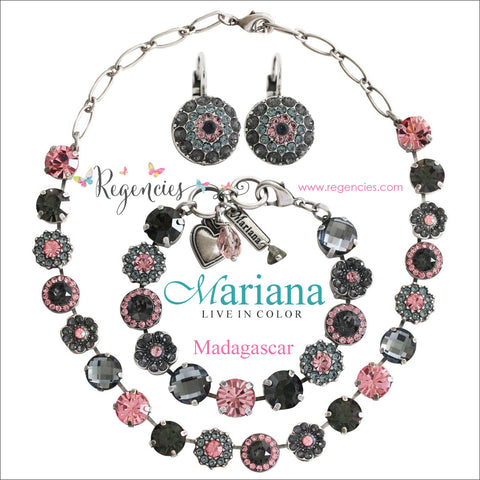 Mariana Pink Rose Gray Swarovski Crystal Jewelry