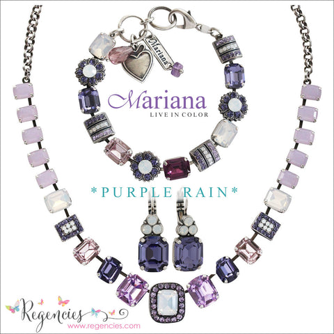 Mariana Jewelry Purple Rain Earrings Bracelets Necklaces
