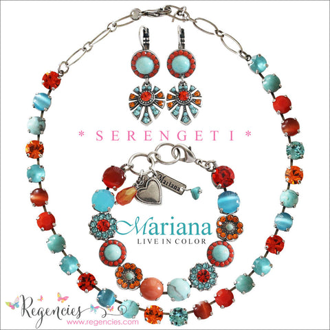 Mariana Turquoise Coral Orange Swarovski Crystal Jewelry