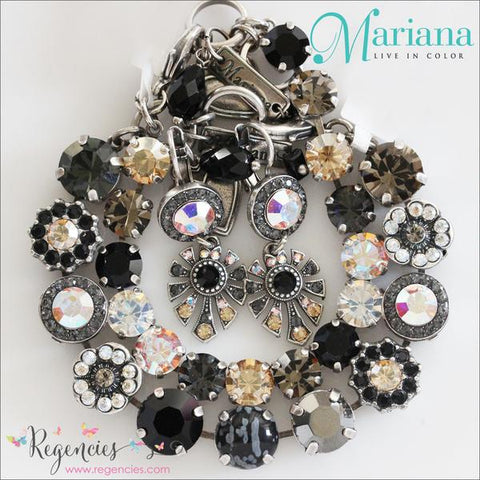 Mariana Jewelry Black Moonlight Golden Shadow Swarovski Crystals