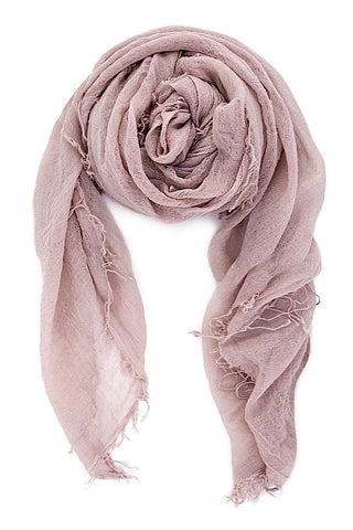 Chan Luu Cashmere and Silk Scarf Wrap - Adobe Rose