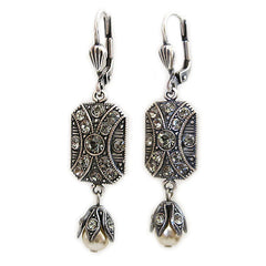 Catherine Popesco La Vie Parisienne Art Deco Rectangular Drop Earrings