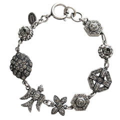 Catherine Popesco La Vie Parisienne Art Deco Shapes Crystal Bracelet