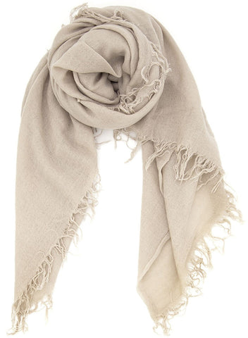 Chan Luu Cashmere and Silk Scarf Wrap - Doeskin