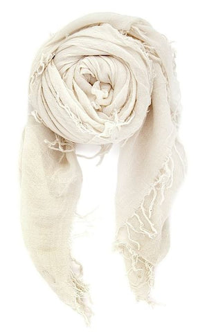 Chan Luu Cashmere and Silk Scarf Wrap - Eggshell