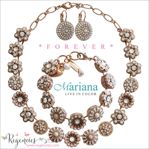 Mariana Pearl Moonlight Clear Rose Gold Plated Swarovski Crystal Jewelry