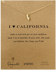 Dogeared I Love California Necklace