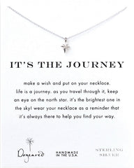 Dogeared It's The Journey North Star Necklace