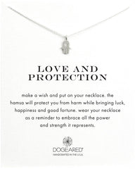 Dogeared Love and Protection Heart Hamsa Necklace