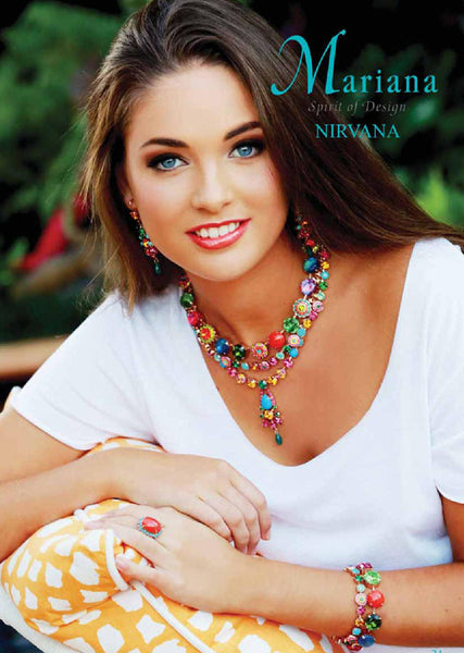 Mariana Jewelry Fantasy Multi Color Earrings Bracelet Necklace Ring Set Model