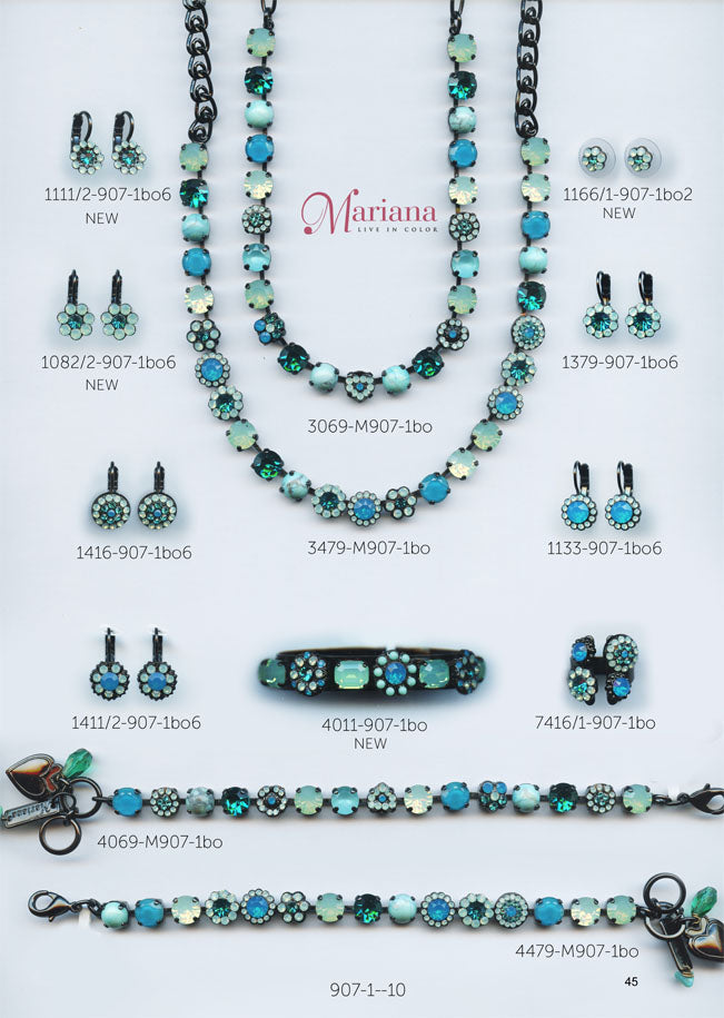 Mariana Jewelry Carribean Life Blue Turquoise Swarovski Bracelets Earrings Necklaces Catalog Page 10