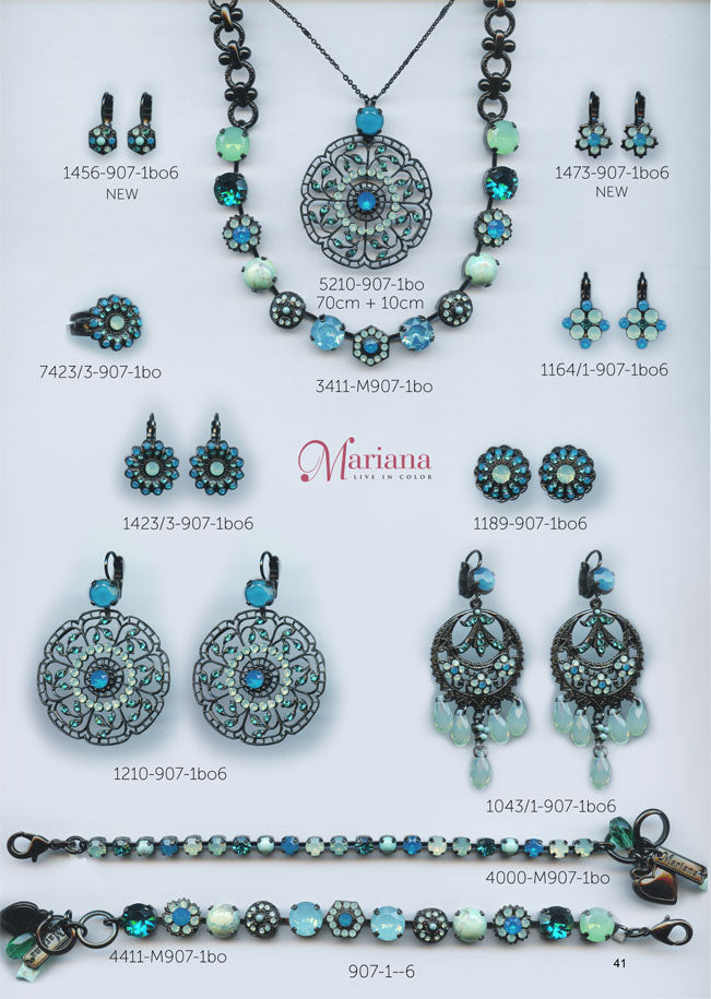 Mariana Jewelry Carribean Life Blue Turquoise <br>Swarovski Bracelets Earrings Necklaces Catalog Page 6