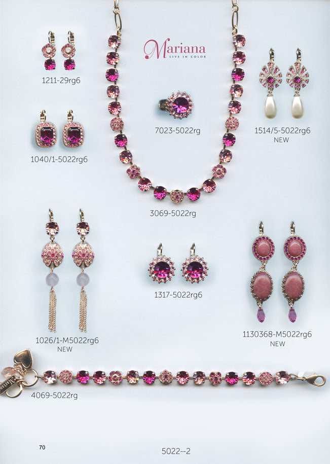 Mariana Jewelry Carribean Life Fuchsia Pink Rose Swarovski Bracelets Earrings Necklaces Catalog Page 2