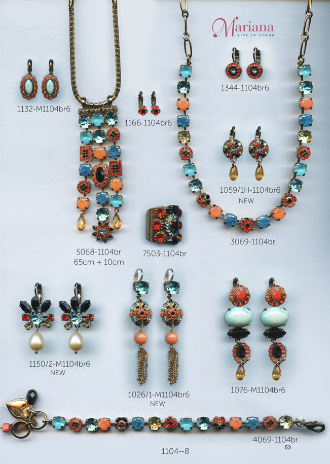 Mariana Jewelry Carribean Life Coral Turquoise Colorful Swarovski Bracelets Earrings Necklaces Catalog Page 8
