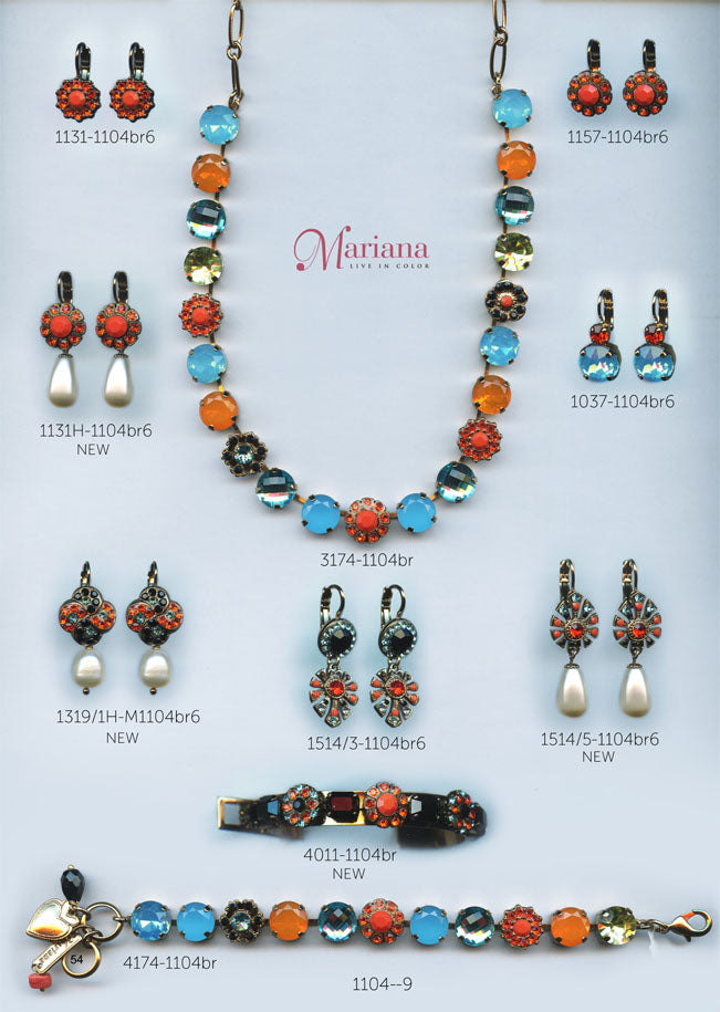 Mariana Jewelry Carribean Life Coral Turquoise Colorful Swarovski Bracelets Earrings Necklaces Catalog Page 9