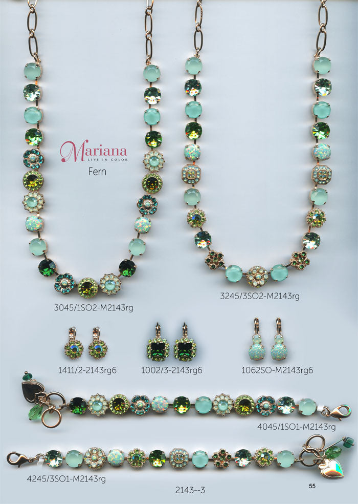 Mariana Jewelry Nature Catalog Swarovski Bracelets, Earrings, Necklaces, Rings Fern Green Page 1