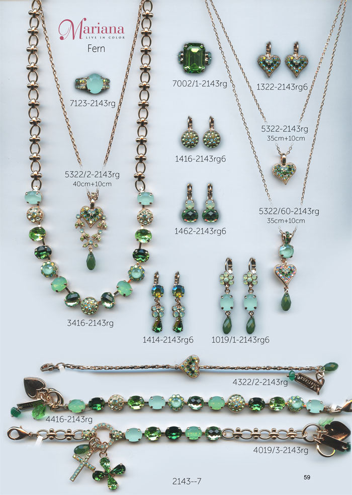 Mariana Jewelry Nature Catalog Swarovski Bracelets, Earrings, Necklaces, Rings Fern Green Page 2