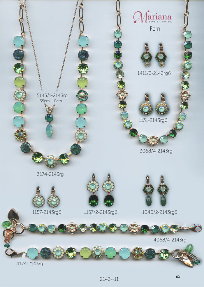 Mariana Jewelry Nature Catalog Swarovski Bracelets, Earrings, Necklaces, Rings Fern Green Page 3