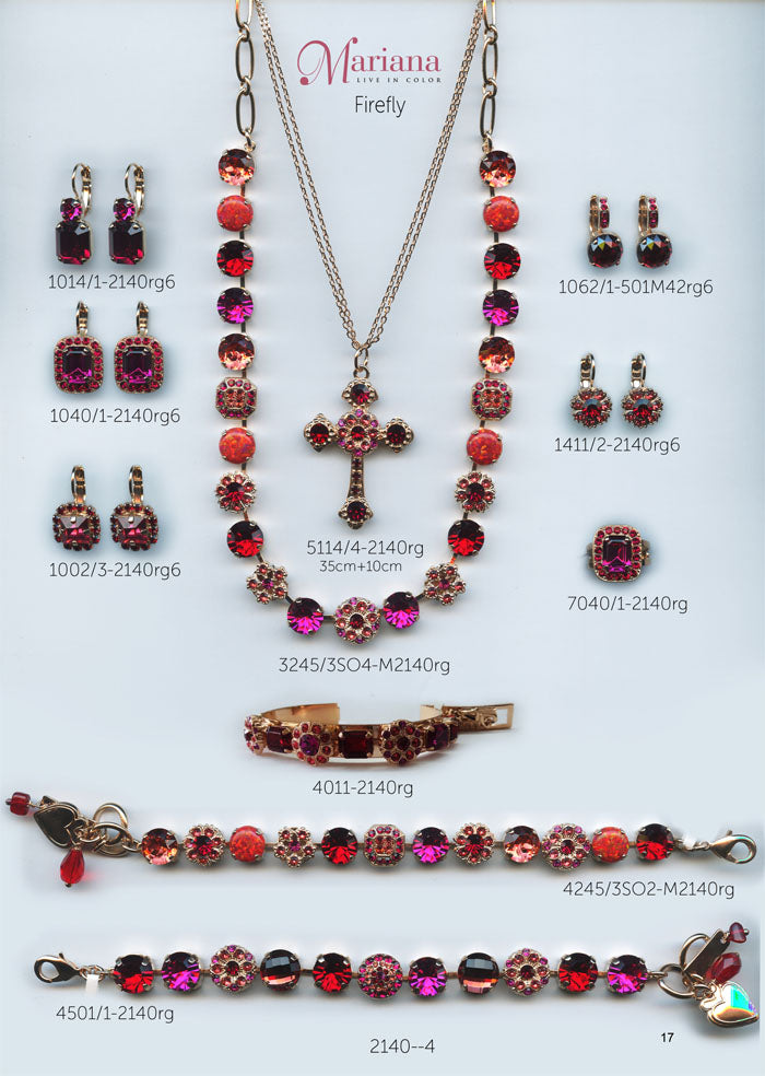 Mariana Jewelry Nature Catalog Swarovski Bracelets, Earrings, Necklaces, Rings Firefly Red Pink Page 2