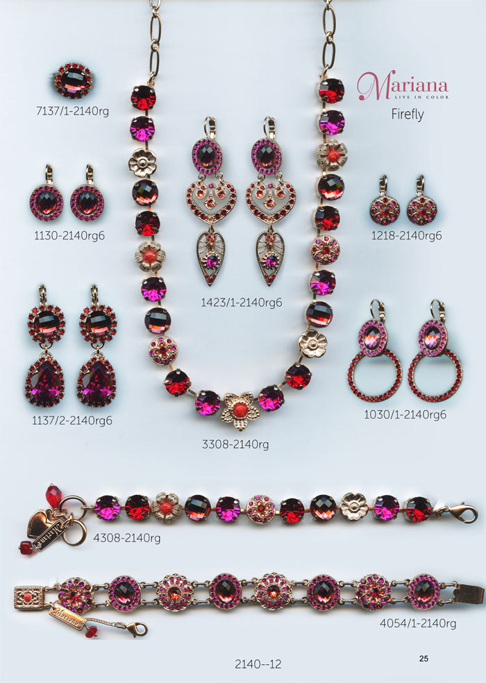 Mariana Jewelry Nature Catalog Swarovski Bracelets, Earrings, Necklaces, Rings Firefly Red Pink Page 4