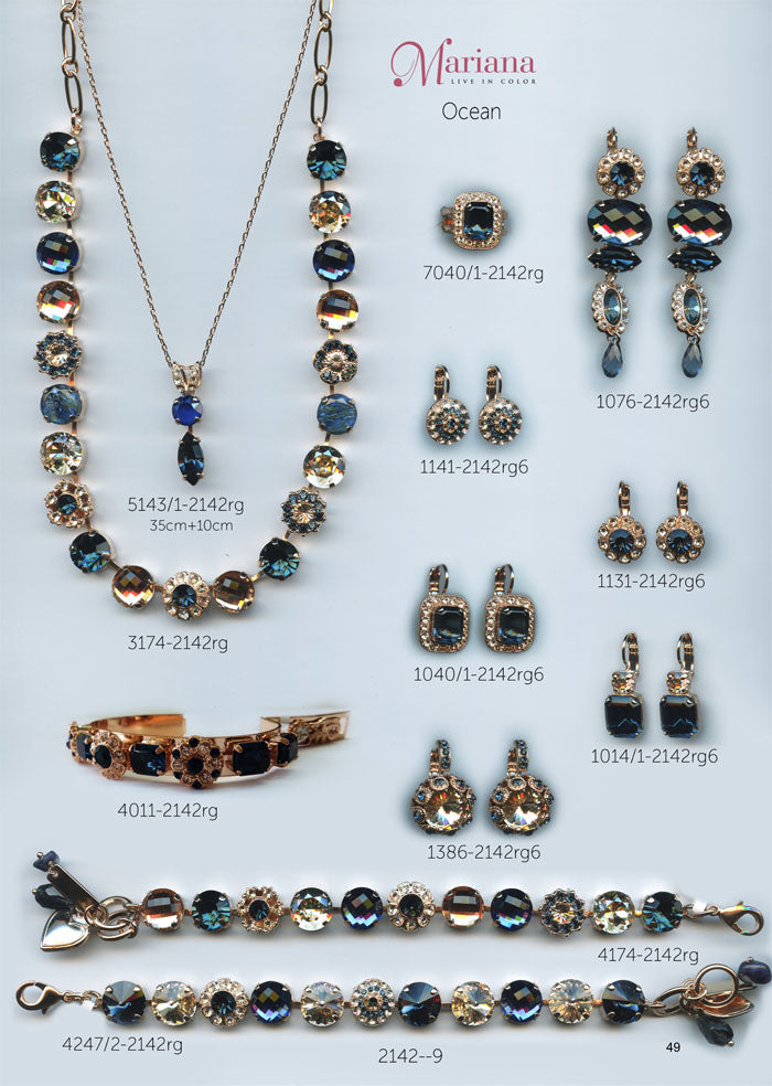 Mariana Jewelry Nature Catalog Swarovski Bracelets, Earrings, Necklaces, Rings Ocean Blue Page 3