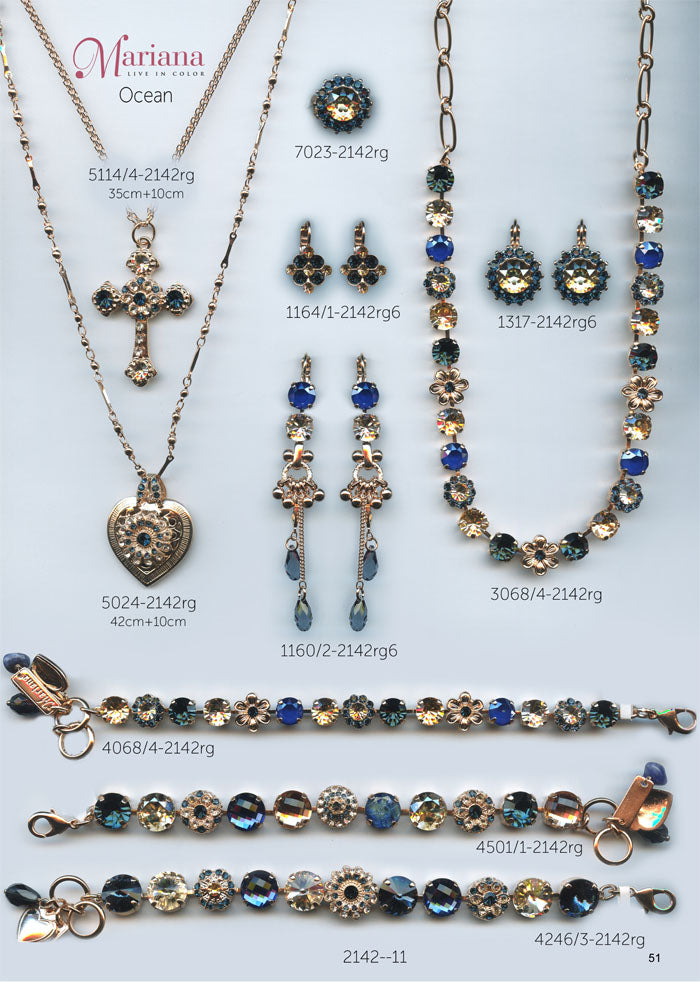 Mariana Jewelry Nature Catalog Swarovski Bracelets, Earrings, Necklaces, Rings Ocean Blue Page 4
