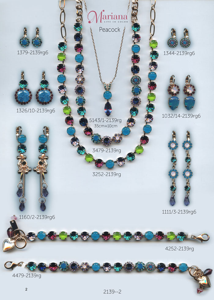 Mariana Jewelry Nature Catalog Swarovski Bracelets, Earrings, Necklaces, Rings Peacock Page 1