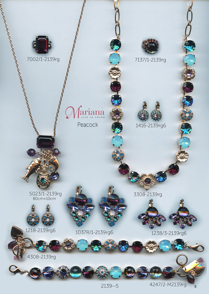 Mariana Jewelry Nature Catalog Swarovski Bracelets, Earrings, Necklaces, Rings Peacock Page 2