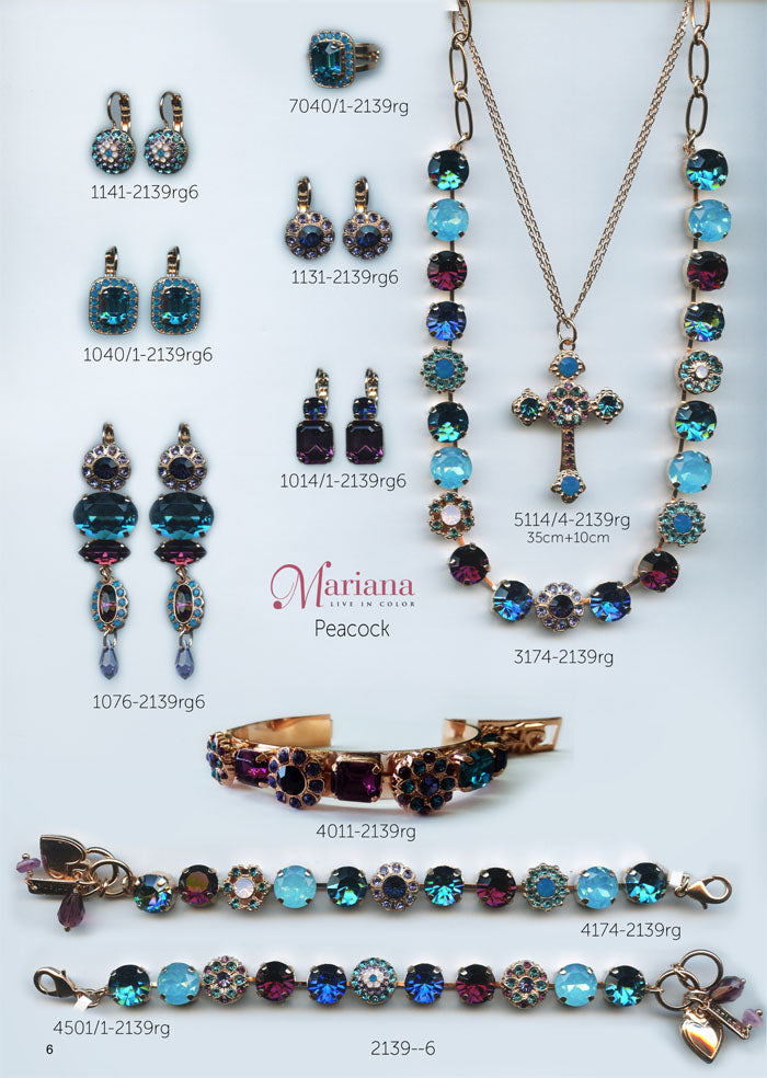 Mariana Jewelry Nature Catalog Swarovski Bracelets, Earrings, Necklaces, Rings Peacock Page 3