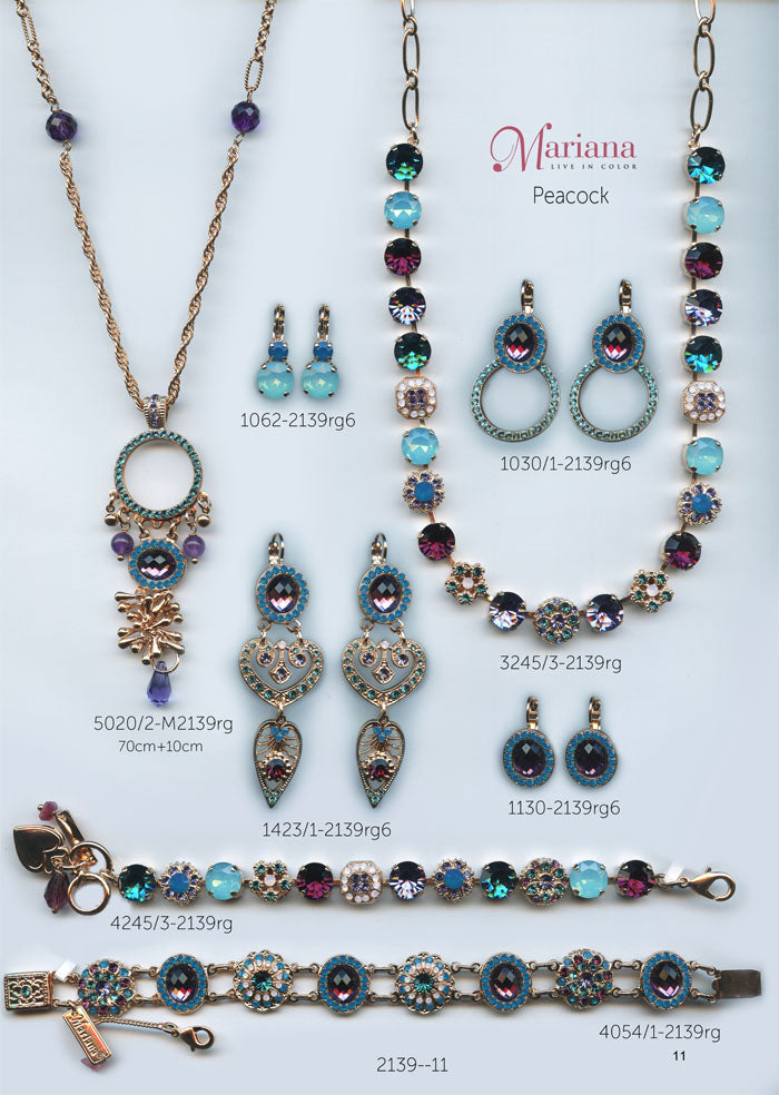Mariana Jewelry Nature Catalog Swarovski Bracelets, Earrings, Necklaces, Rings Peacock Page 4