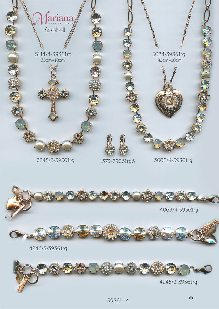 Mariana Jewelry Nature Catalog Swarovski Bracelets, Earrings, Necklaces, Rings Seashell Page 1