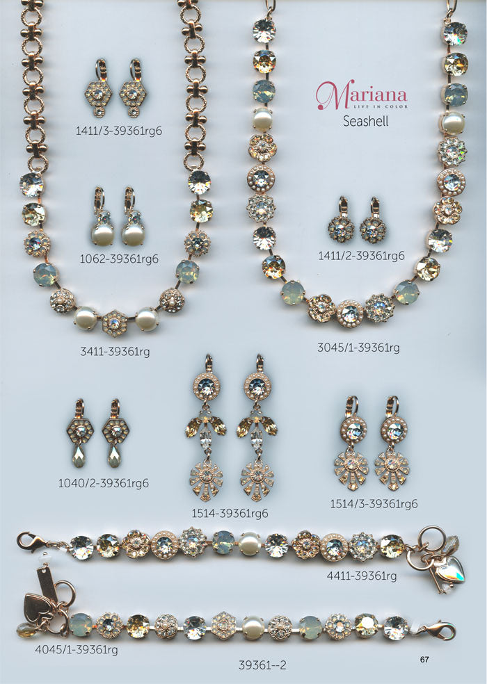 Mariana Jewelry Nature Catalog Swarovski Bracelets, Earrings, Necklaces, Rings Seashell Page 2