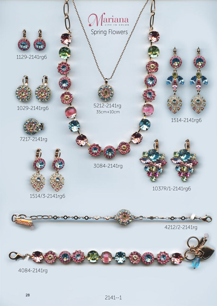 Mariana Jewelry Nature Catalog Swarovski Bracelets, Earrings, Necklaces, Rings Spring Flowers Multi Color Colorful Page 1